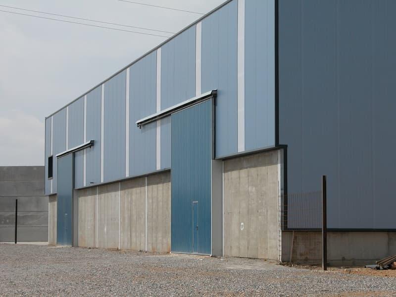 puerta corredera rodante industrial