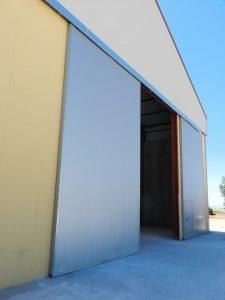 puerta industrial corredera nave
